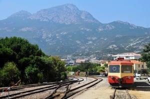 Corsica's narrow gauge railway.