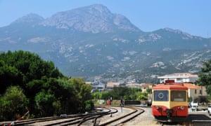 Corsica's 19th-century narrow gauge railway.