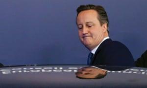 Former British prime minister David Cameron.