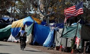 City officials have begun evicting people at a homeless encampment along the Santa Ana river trail.