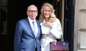 Rupert Murdoch and Jerry Hall.