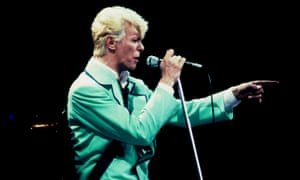 David Bowie performing at Wembley, London in 1983