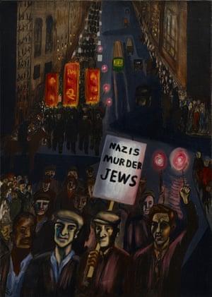 Nazis Murder Jews 1936, by Alice Neel