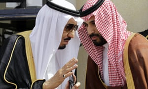 Prince Mohammed bin Salman (right) with his father, King Salman.