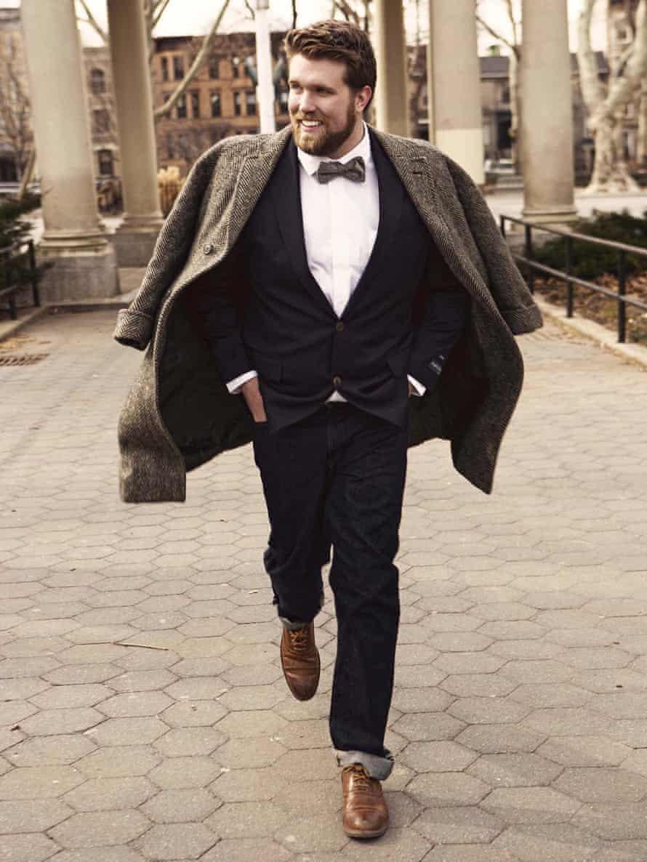 Plus-size model Zach Miko.