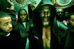 Boxer Bernard Hopkins and his entourage in Philadelphia, 2005