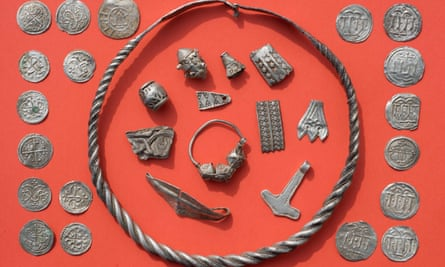 Part of the hoard linked to Bluetooth, the Danish king who reigned from around AD958 to 986.