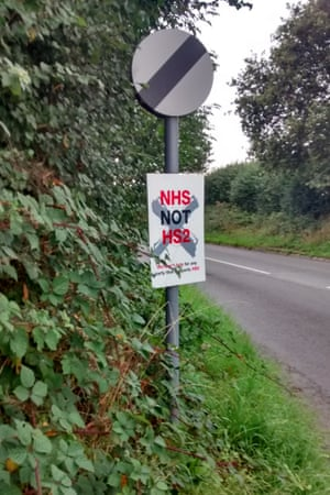 An anti-HS2 sign on the A46 outside Coventry.