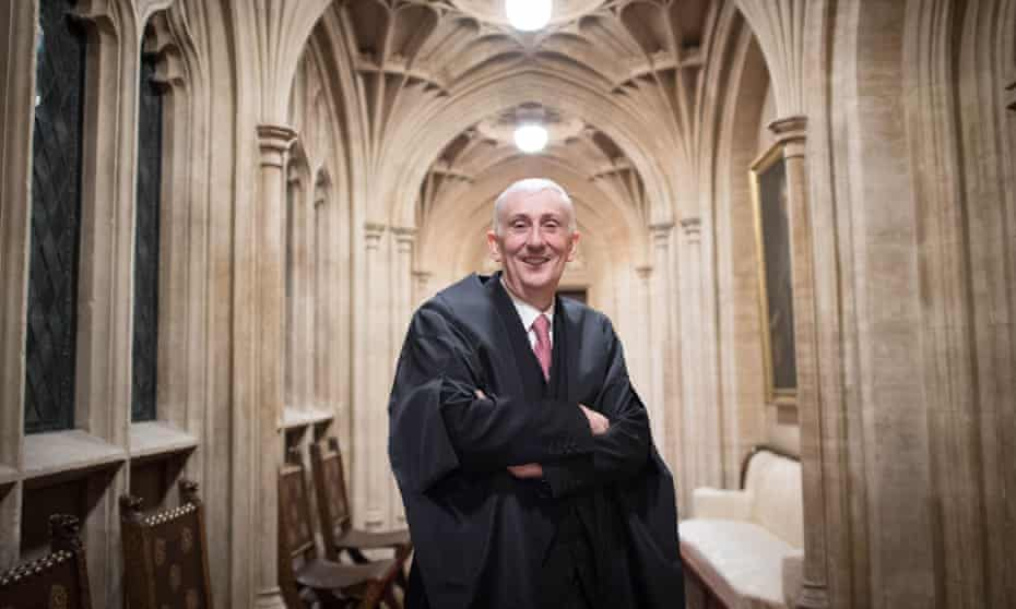 Sir Lindsay Hoyle after his election as Speaker