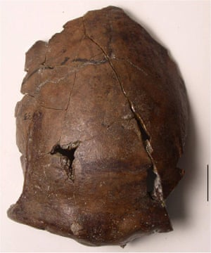 This cranium, originally thought to be 140,000 years old, is now thought to date from 6,000 years ago.