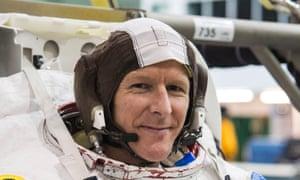 Major Tim Peake during his spacewalk training.