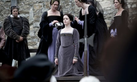 Claire Foy as Anne Boleyn in the TV adaptation of Wolf Hall by Hilary Mantel