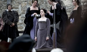 Anne Boleyn (Claire Foy) prepares for her execution.