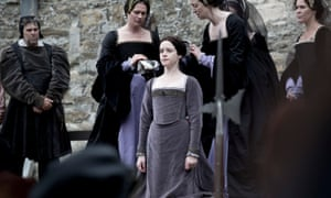 Bloodshed and wreckage: Anne Boleyn (Claire Foy) on the scaffold in the BBC's Wolf Hall.