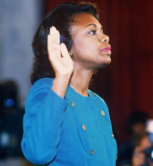 Anita Hill before the Senate Judiciary Committee in 1991.