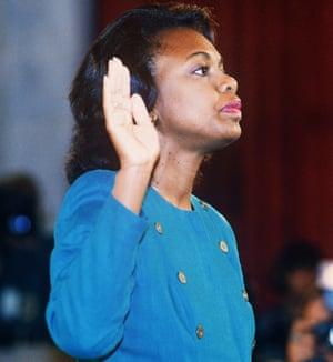 Anita Hill before the Senate Judiciary Committee in 1991.