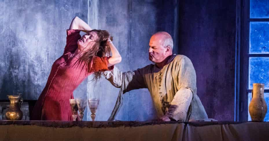 Barbara Hannigan and Christopher Purves in Written On Skin at the Royal Opera House, London.