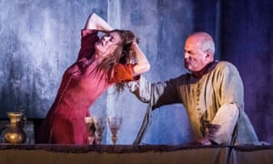 Barbara Hannigan as Agnès with Christopher Purves as her husband, the Protector, in Written on Skin by George Benjamin