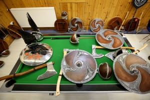 Shields, helmets and axes