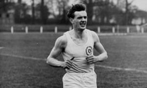 John Disley training in 1954.