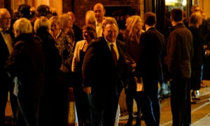 Guests depart from a Tory fundraising event in central London.