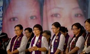 A memorial service in Yangon for the murdered teachers Lu Ra and Nan Tsin