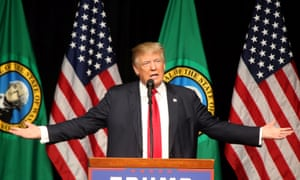Donald Trump speaks in Spokane