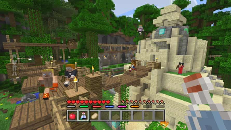 Master builders … a Minecraft temple.