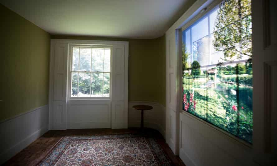 A downstairs room at the house, overlooking the garden