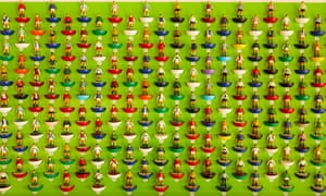 Players from the iconic table football game, Subbuteo.