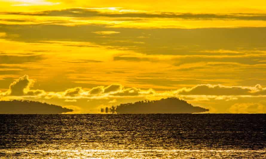 Sunset panorama from Koh Muk national park, Thailand.