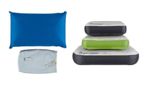 compact Hippychick travel pillow and Sea to Summit Aeros down pillow