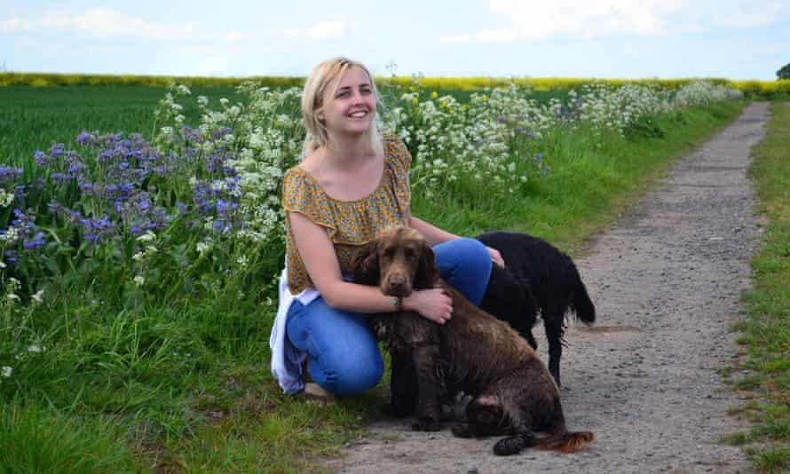 Caitlin Mayhew, care farm co-ordinator, at Hall Farm in North Lincolnshire.