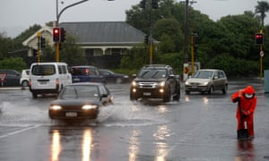 Flooding in Auckland as Cyclone Cook moves down the country.