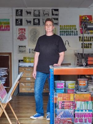 Printmaker Pea Crabtree in her studio.