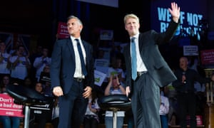 Gary Lineker and MP Jo Johnson at the rally organised by Best for Britain and the People's Vote campaign