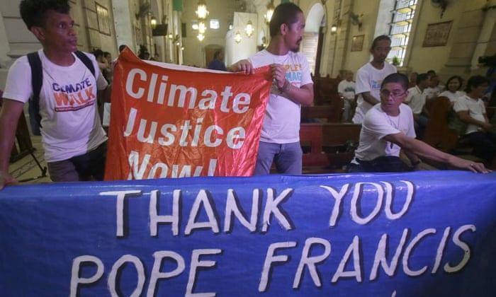 Pope Francis: environmental activists