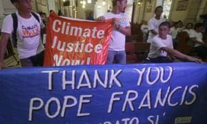 Pope Francis environmental activists