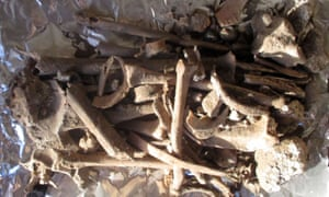 The bones found at the Chapel of Athanasios.