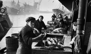 Seagoing heritage ... Hull fishermen unload the catch in 1951.