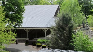 The Chautauqua Institution Amphitheater in Chautauqua, New York, where a plan to demolish and rebuild the aged amphitheater is controversial among preservationists.