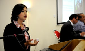 Sara Khan speaks at a safeguarding children and young people from radicalisation and extremism conference in Bradford West Yorkshire.