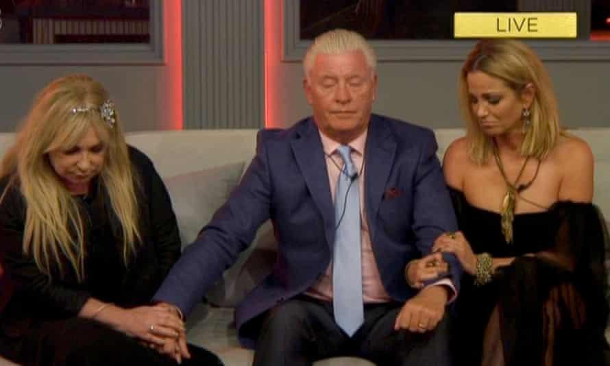 Helen Lederer, Derek Acorah and Sarah Harding on Celebrity Big Brother in August 2017.