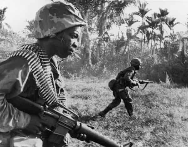 US riflemen from the 173rd Airborne Brigade, March 21, 1967.