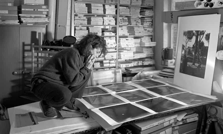 Hélène Binet at work in her north London studio.