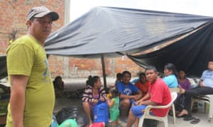 Richard Mejía says he and about 20 neighbours in Portoviejo have so far received no assistance.