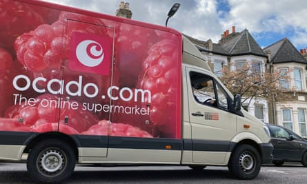 The share price of online grocery delivery firm Ocado has risen by 155% since March.