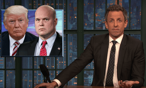 'Trump's like a Gotham City gangster who thinks he can outsmart Batman and ends up dangling from a gargoyle' ... Seth Meyers