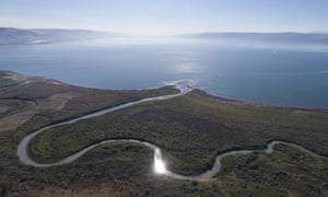 Water levels in the Sea of Galilee, northern Israel have suffered during years of drought.
