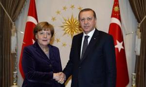 Angela Merkel and Recep Tayyip Erdoğan